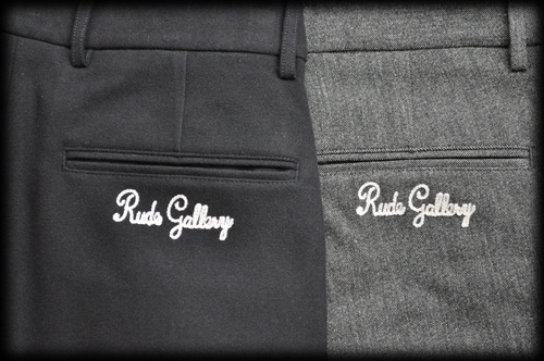 RUDE GALLERY EMBROIDERED TUCK TROUSERS2019.8.31 (4).JPG